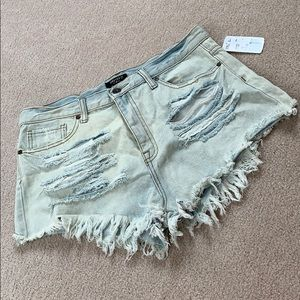 High waisted forever 21 jean shorts